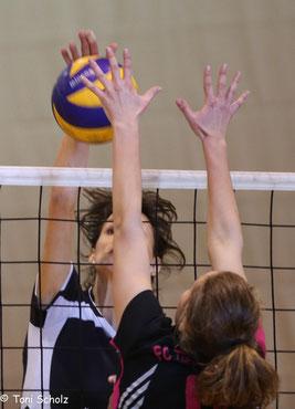 Hannah Schleich beim Angriff