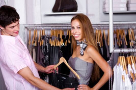 """""""Young Couple In Clothing Store"""" by photostock"""