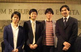 ~ピアノ四重奏の夕べ~(三上亮 長石篤志 榎元圭 原田哲男)  お疲れ様でした!素晴らしい演奏をありがとうございました!