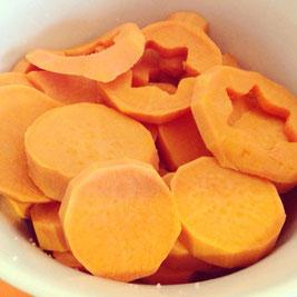 Salzige Süßkartoffeln, vegan