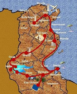 Mappa di Tunisi