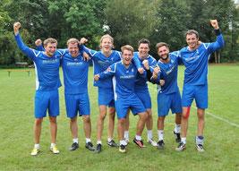 Spielertrainer Markus Schweigert, Patrick Schneider, Tim Störkle, Moritz Höckele, Alexander Thau, Marco Kühner und Michael Krauß