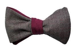 Querbinder Schleife Selbstbinder Fliege fabowlossi Bow Tie handgemacht wendefliege weinrot bordeaux muster