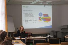 Beraterin Gitta Kleen berichtete über das EU-Programm. Bild: de Vries