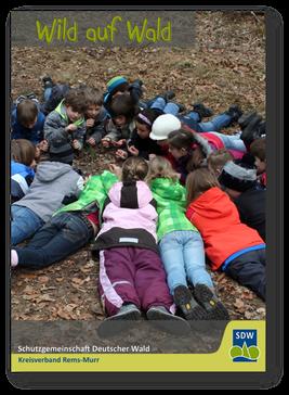 Walderlebnis - Kinder liegen im Kreis und untersuchen den Waldboden