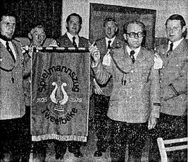 Die Standarte beim Jubiläum 1976 (Foto: Verein)