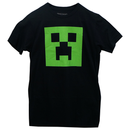 Minecraft Creeper Glow in the Dark Face Premium Tee マインクラフトクリーパーフェイスグローインザダークTシャツ