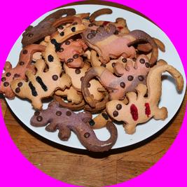 Leopardgecko-Kekse, Leopardgecko-Plätzchen, Rezept
