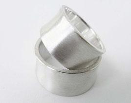 Schlichte moderne Silberne Partnerringe