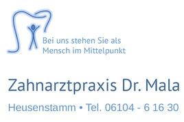 Herzlich willkommen in der Zahnarztpraxis Dr. (Univ. Zagreb) Birgit Mala in Heusenstamm