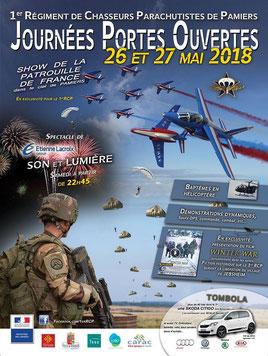 1er Régiment de chasseurs parachutistes jpo RCP 2018 - Patrouille de France 2018