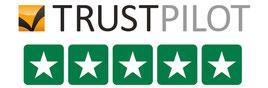 Trustpilot fünf Sterne Bewertung