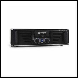 Musikanlage Lichtanlage Mischpult Mikrofon Nebelmaschine Verstärker mieten verleih Alex Light and Sound Skytec AMP 150 MK2