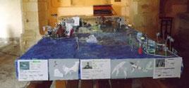 Maquette réalisée par les élèves de l'école de Kergroës