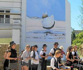 Inauguration de la fresque murale (concession pour 5 ans) en juin 2017