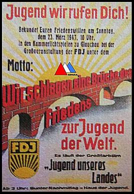 Propaganda kopie poster (1947) 2. collectie auteur.