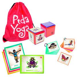 Matériel de Pédayoga ou yoga pédagogique pour enfants. Kit de matériel de yoga enfants et scolaires à acheter pas cher.