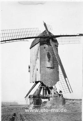 Mühle in Ascheberg 1932 - baufälliger, desolater Zustand