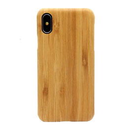 iphone X case bamboo and kevlar front