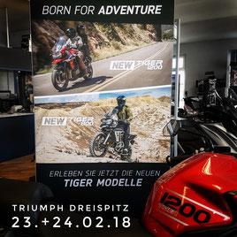 Triumph Tiger 1200 und Tiger 800 bei Motorrad-Center Dreispitz, Binzen