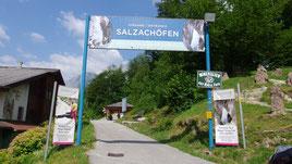 Eingang zur Schlucht mit den Salzachöfen