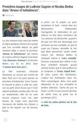 Un article sur tablette.