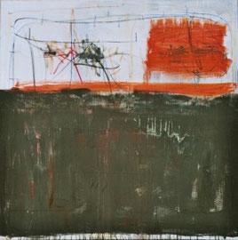 AUGEN-BLICKE, Acryl auf Leinwand, 100 x 100 cm, 2005