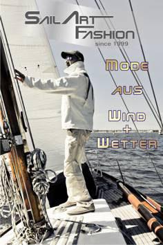 Mode aus Wind+Wetter - Segeltuchjacken Segeltuchwesten Segeltuchtaschen Segeltuchaccessoires SailArt Fashion Segeltuchmode Segeltuch Upcycling Unikate Chic Mode Männermode Jacke Weste Tasche Sitzsäcke Schlüsselanhänger