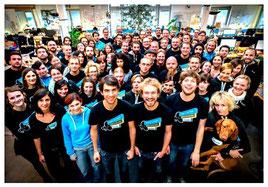 das JIMDO-Team in Hamburg macht Internet-Auftritte für alle sehr einfach!
