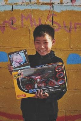Mai 2011: Ganbaatar et son cadeau d'anniversaire