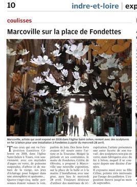 Marcoville en Indre et Loire, exposition de sculptures monumentales
