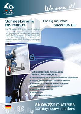 Produkt-Info SnowGUN BK manus