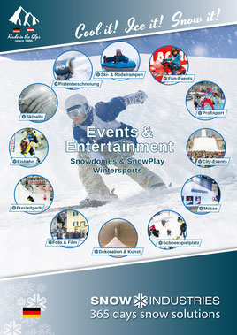 Image brochure Events & entertainment Snow-Industries