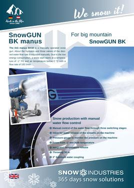 Product information SnowGUN BK manus