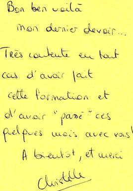 Christelle D. (Gironde), formation correcteur, septembre 2012.