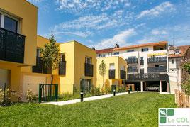 Esquisse du projet d'habitat participatif Amassade vue du jardin - Rue Lespy - Pau