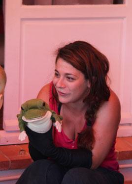 La marionnettiste Julie Lucy