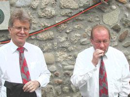 Alain Apel und Erwin Wicki (Rauchen jetzt kurz erlaubt!)