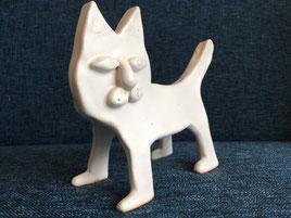 陶芸作品白猫
