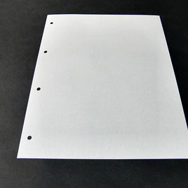 Einlageblätter für Schraubmappen