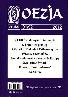 Poesie - Dokumentation, XII.-UNESCO Weltag der Poesie, London / Warschau, IBiS, Warschau, Polen 2012