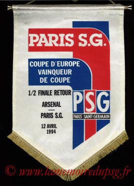 Fanion offciel  Arsenal FC-PSG  1993-94