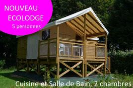 Tente écolodge  perchée pour 2/5 personnes en Baie de Somme avec cuisine salle de bain 2 chambres