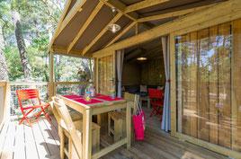Master Lodge  perchée pour 2/5 personnes en Baie de Somme avec cuisine salle de bain 2 chambres
