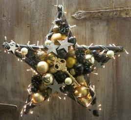 Stern mit Beleuchtung und goldenem Schlüssel