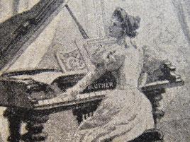 Барышня за роялем Блютнер