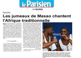 Les jumeaux de Masao article journal Le Parisien