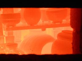 武州熊谷ひみこ窯 窯焚き終了時撮影