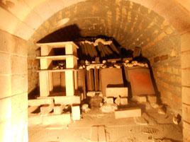 復元古代窯 窯内部 鳩山町