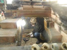 ひみこ窯 窯詰準備 立花雪 2014